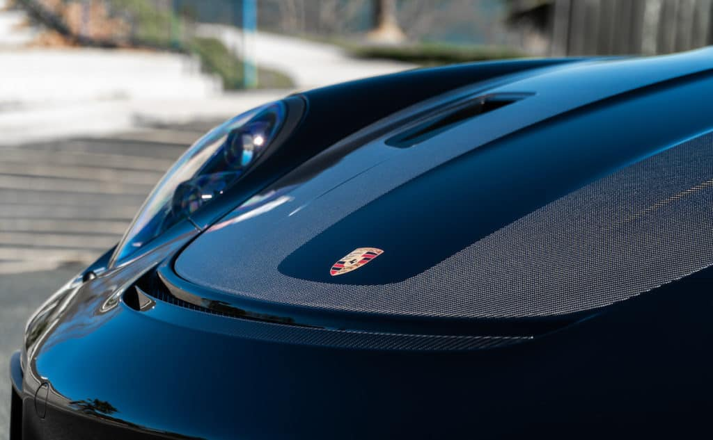 paint protection on a sports car