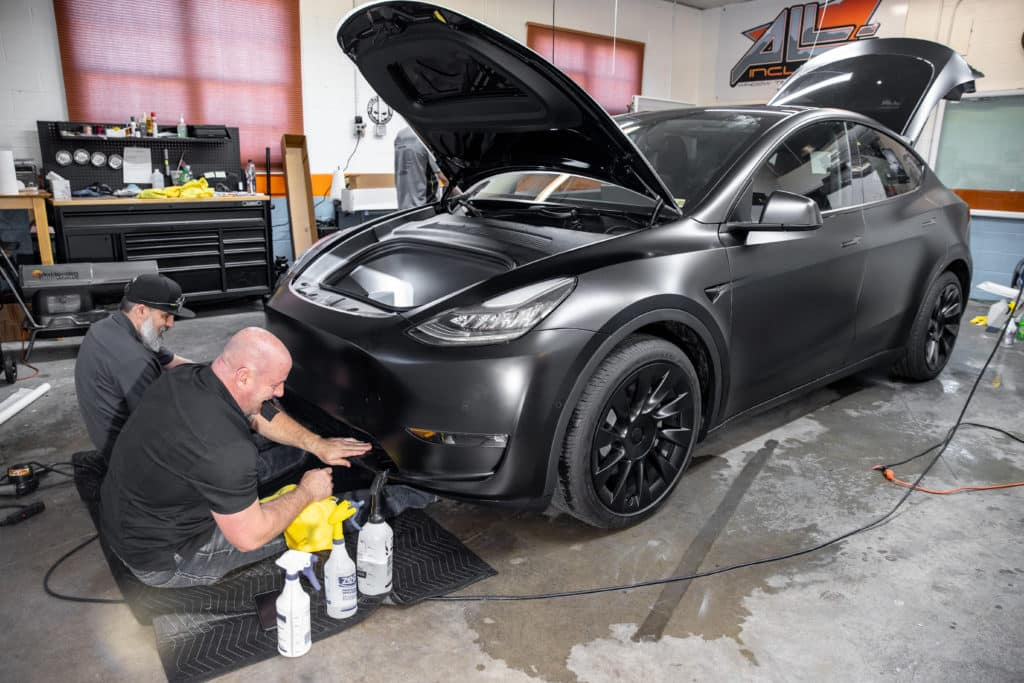 putting paint protection on a Tesla